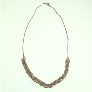 Banana Republic silver and gold necklace